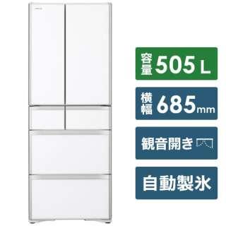 R-X51N-XW 冷蔵庫 クリスタルホワイト [6ドア /観音開きタイプ /505L] 《基本設置料金セット》