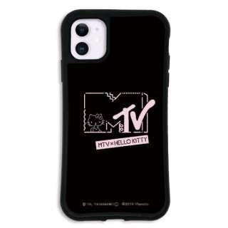 iPhone11 WAYLLY-MK × MTV × ハローキティ セット ドレッサー  カワイイポップ ロゴブラック mkmtvk-set-11-kbl