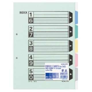 カラー仕切カードA4S2穴