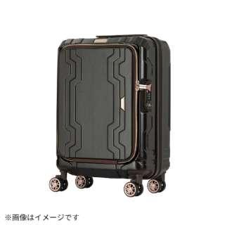 最大容量拡張機能付きフロントオープンジッパーキャリー ブラック 5205-48-BK [37L(48L)]