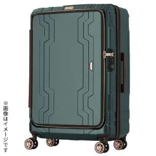 最大容量拡張機能付きフロントオープンジッパーキャリー グリーン 5205-48-GR [37L(48L)]