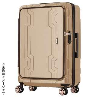 最大容量拡張機能付きフロントオープンジッパーキャリー シャンパンゴールド 5205-48-CGD [37L(48L)]