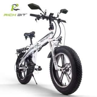 電動ハイブリッドバイク RICHBIT Smart EV(ホウイト) TOP016 【沖縄と離島配送不可/お客様組み立て要】