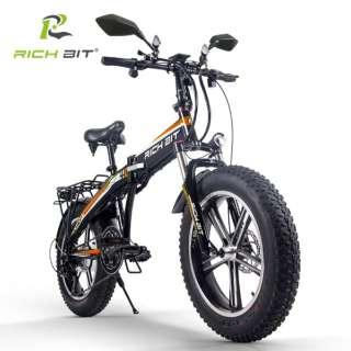 電動ハイブリッドバイク RICHBIT Smart EV(オレンジ) TOP016 【沖縄と離島配送不可/お客様組み立て要】