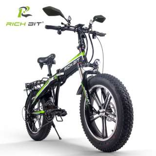 電動ハイブリッドバイク RICHBIT Smart EV(グリーン) TOP016 【沖縄と離島配送不可/お客様組み立て要】