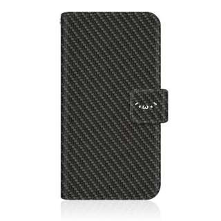 SHOBON iPhone SE(第1世代)4インチ スリム手帳型ケース ショボーン on カーボーン(´・ω・`) カーボン風柄 手帳 iPhoneSE-BSB2S2638-78