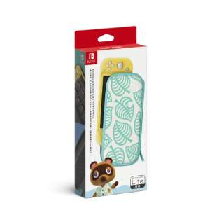 Nintendo Switch Liteキャリングケース あつまれ どうぶつの森エディション ~たぬきアロハ柄~(画面保護シート付き) HDH-A-PSSAE