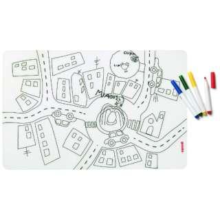 キッズプレイスマット&カラーペンセット TRAFFIC アソート 22609452