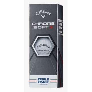 ゴルフボール CHROME SOFT X ボール TRIPLE TRACK クロムソフト Xボール トリプルトラック《1スリーブ(3球)/ホワイト》