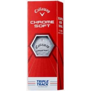 ゴルフボール CHROME SOFT クロムソフト ボール トリプル・トラック《1スリーブ(3級)/ホワイト》