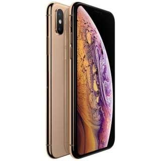 【SIMフリー】Apple iPhone XS Max A12 Bionic 6.5型 ストレージ: 64GB nanoSIM ゴールド