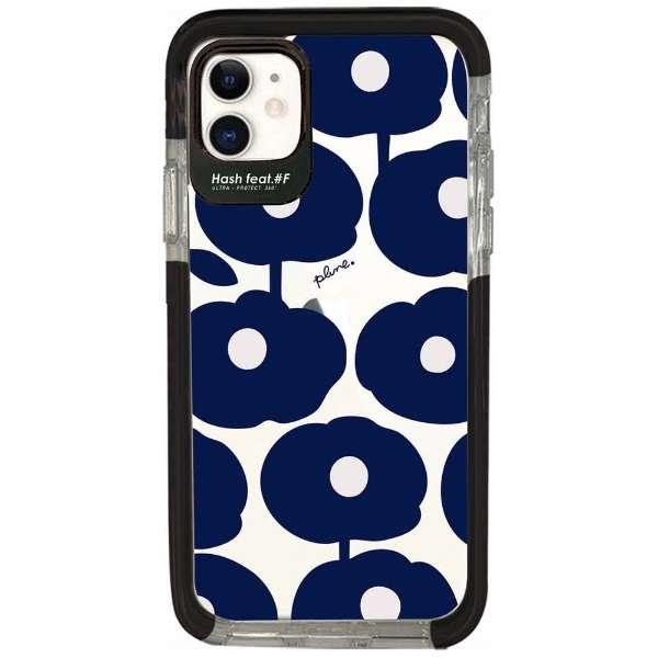 iPhone11 Ultra Protect Case Plune. もこもこお花 Hash feat.#F HF-CTIXIR-2P07