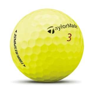 ゴルフボール TOUR RESPOSE ツアーレスポンス《1スリーブ(3球)/イエロー》
