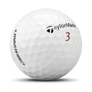 ゴルフボール TOUR RESPOSE ツアーレスポンス《1スリーブ(3球)/ホワイト》