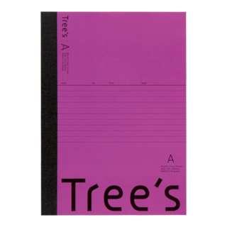 Trees B5 A罫30枚 パープル パープル UTR3APU