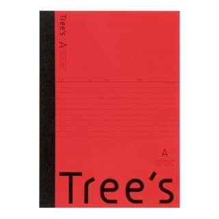 Trees B5 A罫30枚 レッド レッド UTR3AR