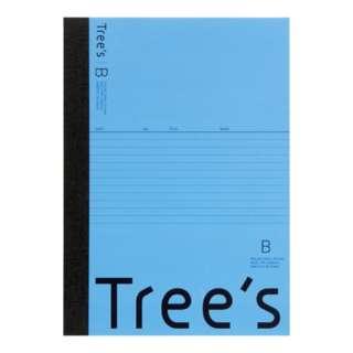 Trees B5 B罫30枚 ライトブルー ライトブルー UTR3BLB