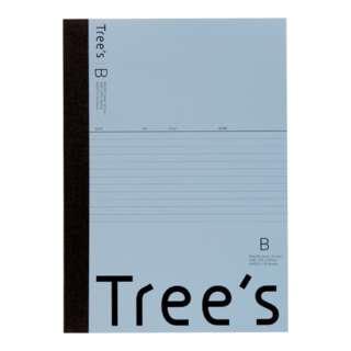 Trees B5 B罫30枚 ブルーグレー ブルーグレー UTR3BGR