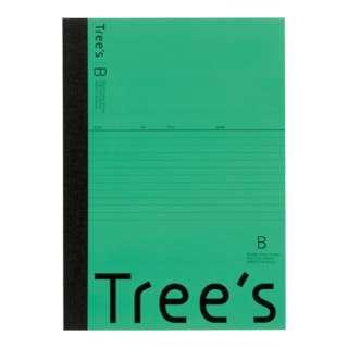 Trees B5 B罫30枚 グリーン グリーン UTR3BG