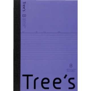 Trees B5 B罫30枚 バイオレット バイオレット UTR3BV