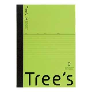 Trees B5 B罫30枚 ライトグリーン ライトグリーン UTR3BLG