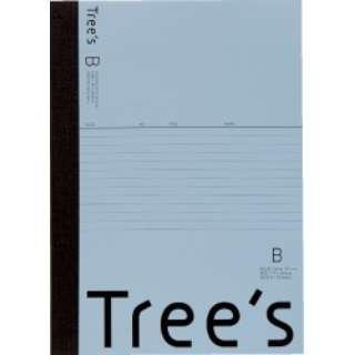 Trees B5 B罫40枚 ブルーグレー ブルーグレー UTR4BGR