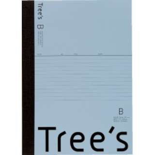 Trees B5 B罫50枚 ブルーグレー ブルーグレー UTR5BGR