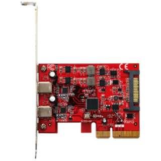 インターフェースカード USB-C 3.2x2[PCI-Express] ASMedia USB3.2C-P2-PCIE3