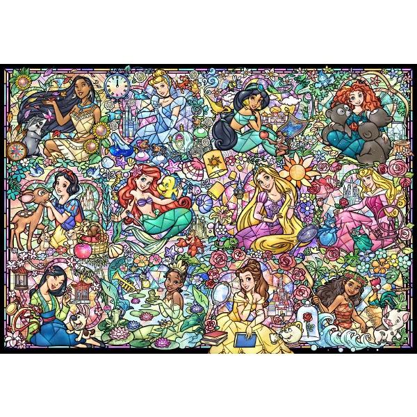 ジグソーパズル DS-1000-776 ディズニープリンセス コレクション ステンドグラス