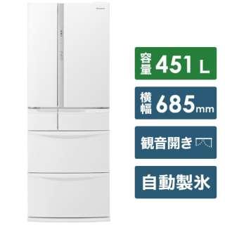 NR-FV45S6-W 冷蔵庫 FVFタイプ ハーモニーホワイト [6ドア /観音開きタイプ /451L] [冷凍室 110L]《基本設置料金セット》