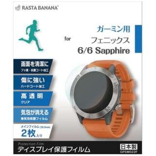 GPSウォッチフィルム fenix 6/6 Sapphire GPSW022F