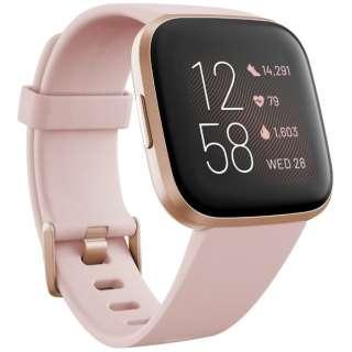 FB507RGPK-FRCJK Fitbit Versa 2 Alexa搭載 スマートウォッチ Petal Pale/Cooper Rose L/S サイズ ピンク