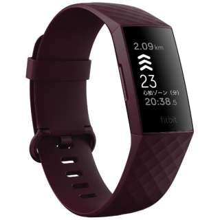 FB417BYBY-FRCJK Fitbit Charge4 GPS搭載 フィットネストラッカー ローズウッド L/S サイズ