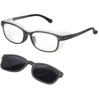 【度付き】【花粉・アレルギー対策グッズ】3way Protective eye wear AT-WEP-02 CGR(マットクリアグレー)[薄型/屈折率1.60/非球面/PCレンズ]