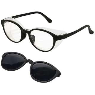 【度付き】【花粉・アレルギー対策グッズ】3way Protective eye wear AT-WEP-01 MBK(マットブラック)[超薄型/屈折率1.67/非球面]