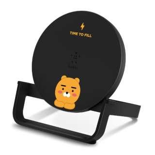 [KAKAO FRIENDS EDITION] BOOST↑UP ワイヤレス充電スタンド ブラック(10W、micro-USBケーブル付き) F7U108BTBLK-KK