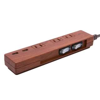 NATURAL WOOD TAP AC3 USB ダークウッド