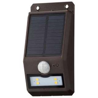 ソーラーセンサーウォールライト110lm 薄型 monban ブラウン LS-S108FN4-T