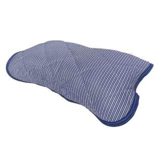 【涼感パッド】リバーシブル枕パッド 裏綿パイル (45×55cm/ネイビー)