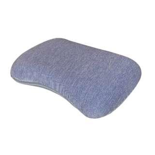 【冷感まくら】低反発もっちり枕 専用カバー付き (35×50cm/ネイビー)
