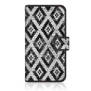 CaseMarket ZS620KL スリム手帳型ケース アラスカ モダン モノトーン インディアン Black & White ZS620KL-BCM2S2114-78