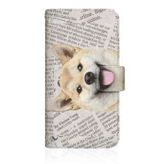 CaseMarket ZS620KL スリム手帳型ケース ZAKKA ZOO ノート キュート つぶらな瞳 柴犬 ワンワン ニュースペーパー 柄 ホワイト ZS620KL-BCM2S2825-78