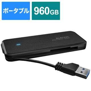 ESD-EC0960GBKR 外付けSSD ブラック [ポータブル型 /960GB]