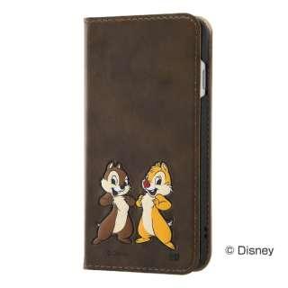 iPhone SE(第2世代)4.7インチ/8/7 ディズニー/手帳 ポップアップ RT-DP24J/CD Chip&Dale