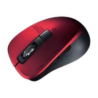 マウス レッド MA-BTBL155R [BlueLED /無線(ワイヤレス) /5ボタン /Bluetooth]