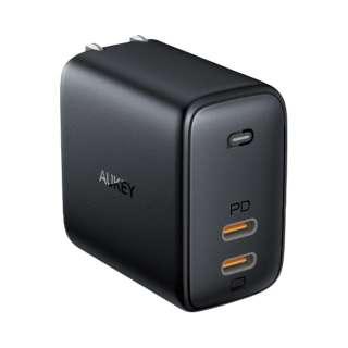 AUKEY(オーキー) USB充電器 Omnia Duo 65W  [USB-C 2ポート] ブラック AUKEY(オーキー) Black PA-B4-BK [USB Power Delivery対応]