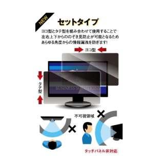 13.1Wインチ(16:9)対応 覗き見防止フィルター セットタイプ (290×163mm) LNWS-131N8