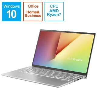 X512DA-BQ1136TS ノートパソコン VivoBook 15 X512DA トランスペアレントシルバー [15.6型 /AMD Ryzen 7 /SSD:512GB /メモリ:8GB /2020年4月モデル]