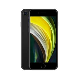 【SIMフリー】iPhone SE A13 Bionic 4.7型 ストレージ:128GB デュアルSIM(nano-SIMとeSIM) MXD02J/A ブラック