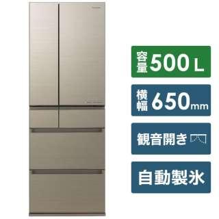NR-F506HPX-N 冷蔵庫 HPXタイプ アルベロゴールド [6ドア /観音開きタイプ /500L] [冷凍室 119L]《基本設置料金セット》